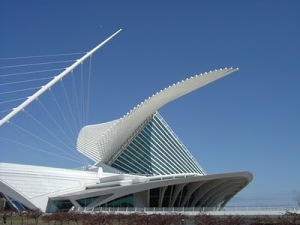 Santiago Calatrava's design for the Milwaukee Art Museuem