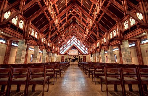 Inside Mariners Chapel - Designed by Visioneering Studios