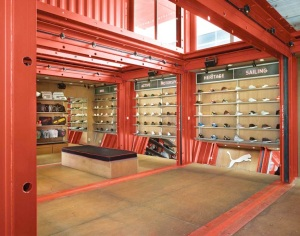 Puma City Interior shipping container architecture
