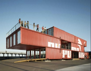 Puma City shipping container architecture