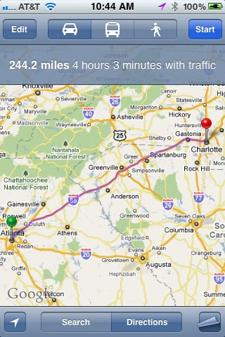 Atlanta to Charlotte