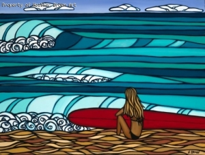 """Surfer Girl"" by Heather Brown"